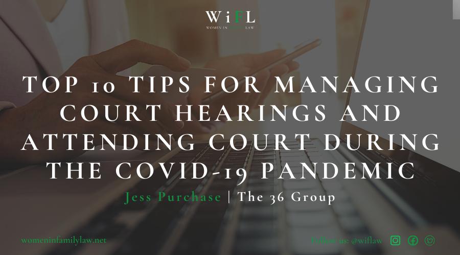 Managing court hearings